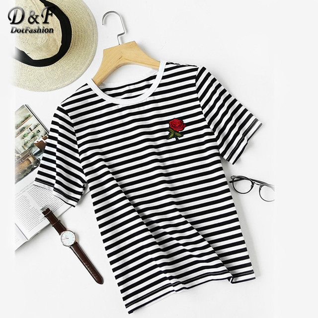 Collection Striped Tee Shirt Womens Pictures