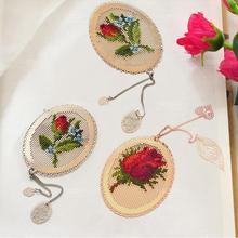 Bookmark Cross-Stitch Craft Embroidery Oneroom Stich Metal Needlework Golden Silver DIY