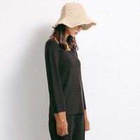 2017 Autumn New Sweater Korean Elasticity Was Thin Round Collar Slim Shirt Female M177