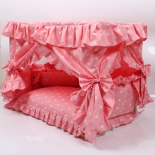 Easy to clean dog bed cute lace house comfortable overall detachable cotton