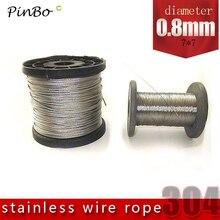50 м 304 проволочный Канат из нержавеющей стали alambre кабель мягче рыболовный подъемный кабель 7X7 структура 0,8 мм диаметр