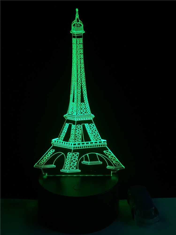 Luzes da Noite eiffel levou night light humor Function 1 : Led Bed Lamp/table Desk Lighting/bar Light