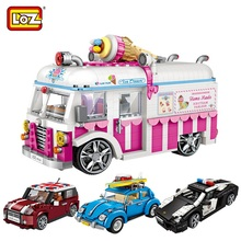 LOZ 2019 New Bricks 1005pcs DIY Car Model Loz1112 Kid Juguetes Building Cars Loz Mini Blocks Birthday Gifts Toys for Girls Boys