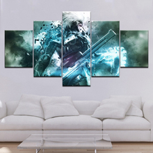 Metal Gear Rising Revengeance HD game Wallpapers 5 Panels modern Modular Poster art Canvas painting for Living Room Home Decor видеоигра для xbox 360 metal gear rising revengeance