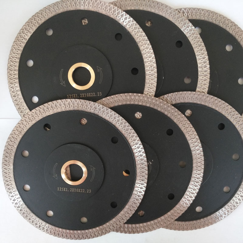 Best Quality 6Pcs set 5 inch 125 mm Porcelain Diamond Saw Blade for ceramic tiles Porcelain