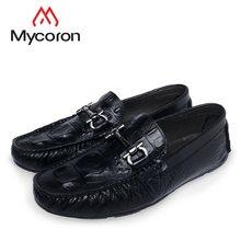 123270e98 MYCORON/2018 модная брендовая мужская обувь из крокодиловой кожи с кожаными  ботинками ручной работы,
