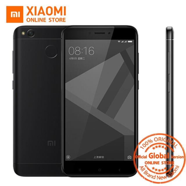 Глобальная версия Xiaomi Redmi 4X смартфон 3 ГБ Оперативная память 32 ГБ Snapdragon 435 Octa core Процессор Adreno 505 4100 мАч 13MP Камера MIUI8.1