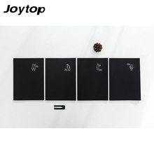 Joytop Black cardboard B5 notebook Retro Creative Travel Journal Diary Exercise Binding Note Notepad Gift 2017 School supplies