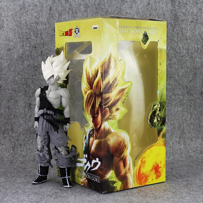 funko pop vinyl фигурка dragon ball z black hair goku Classic version Dragon Ball Z Super Saiyan Son Goku Figure Toy Gokou Black White Without Colour Banpresto Super Stars