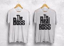 new funny brand clothing men summer boss the real boss t shirt matching couple valentines gift boyfriend wifey custom tee shirt
