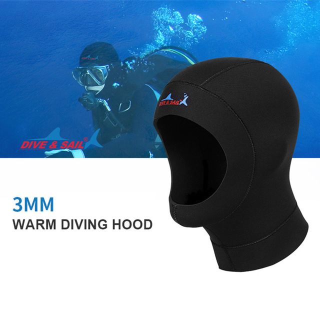 3MM Neoprene Scuba Swimming Diving Caps With Shoulder Snorkeling Hat Hood Neck Cover Winter Keep Warm Wetsuit Protect Hair
