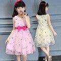 Вышитые с бантом танец девушка лето Cuhk дети одеваются детскую одежду девочку одежды летом 2016