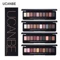 UCANBE marca maquiagem 10 cores quentes da paleta da sombra shimmer matte pigmento da sombra do olho nu paleta de sombra natural elegante