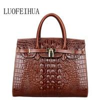 Genuine Leather women bags for women 2018 New Luxury Crocodile Pattern Handbags Brand Bags Handbags Women Designer Bags