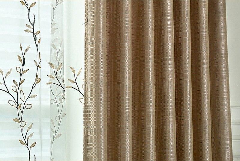 Raam Gordijn 11 : Nieuwe aankomst effen gordijnen reliëf luxe raam gordijnen
