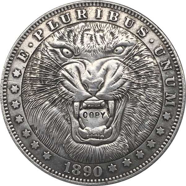 Hobo Nikkel 1890-CC VS Morgan Dollar MUNT COPY Type 109