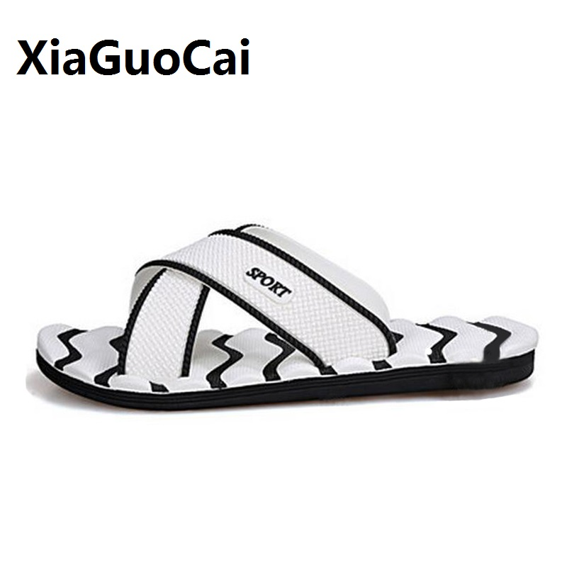 189cd7f0de7065 flip flops 2018 Summer Men Slippers mens shoes home EVA Outside beach  bathroom Soft sandals male erkek terlik zapatos de hombre-in Slippers from  Shoes on ...