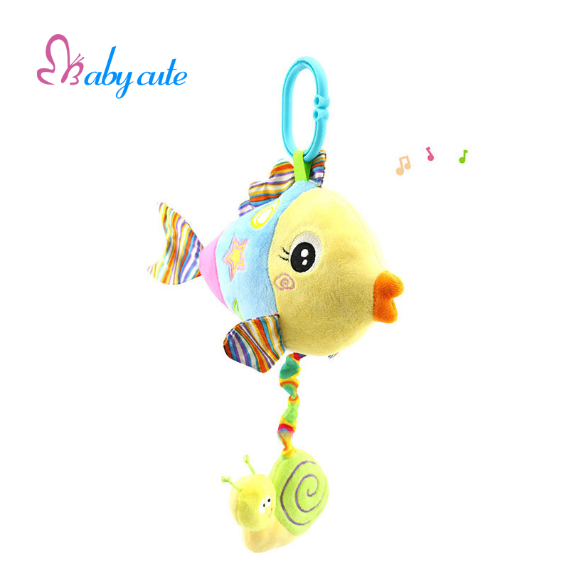 Baby crib musical mobile toy rattles plush fish musical for Big fish musical script