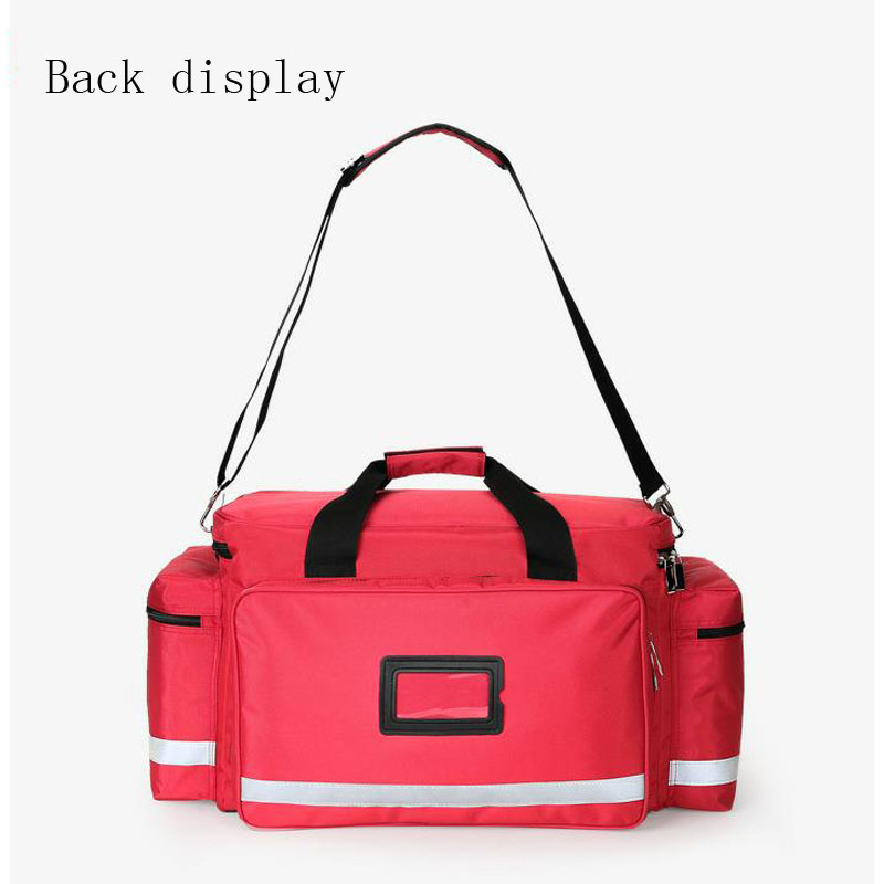 Image 5 - Outdoor First Aid Kit Outdoor Sports Red Nylon Waterproof Cross Messenger Bag Family Travel Emergency Medical Bag DJJB020-in Emergency Kits from Security & Protection