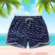 Пляжные мужские шорты, быстросохнущие шорты с принтом, Шорты для плавания, серфинга, летние мужские шорты с эластичной резинкой на талии