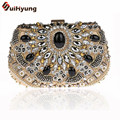 Free Shipping Retro Beading Women's Handbags Fashion Design Crystal Wedding Small Clutch Purse Ladies Diamond Party Evening Bags