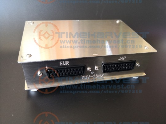 New Arrival Super RGBS Converter Box RGBS to YUV converting board 15Khz SCART RCA convert to component video convertor for CBOX аксессуар philips scart rca s video swv2562w 10