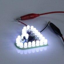 Белый DIY сердце Форма Дыхание лампы Комплект dc4v-6v Сам электронный Production DIY Наборы сердце Форма D лампы люкс электронный DIY комплект