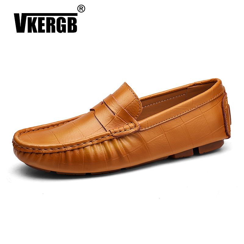Men/'s Casual Leather Slip On Moccasins Lazy Driving Loafers Soft Shoes Big Size