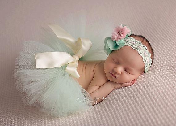 Bebé del tutú con diadema set NB bebé foto atrezzo recién nacido 0-3month venda del bebé vendas de la flor
