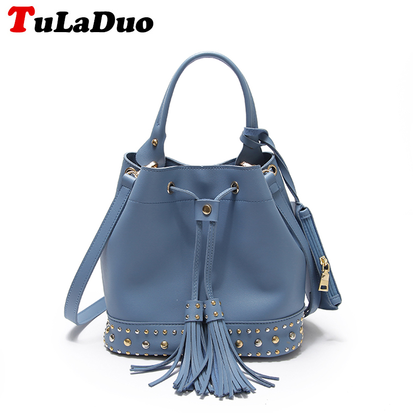 Luxury Handbags Fashion Tassel Satchel Bag Women Bags Designer Brand Famous Tote Bag Female Pu Leather Rivet Shoulder Bag bolsas powge 8pcs 32 teeth gt2 timing pulley bore 5mm 6 35mm 8mm 5meters width 9mm gt2 open timing belt 2gt pulley belt 32teeth 32t