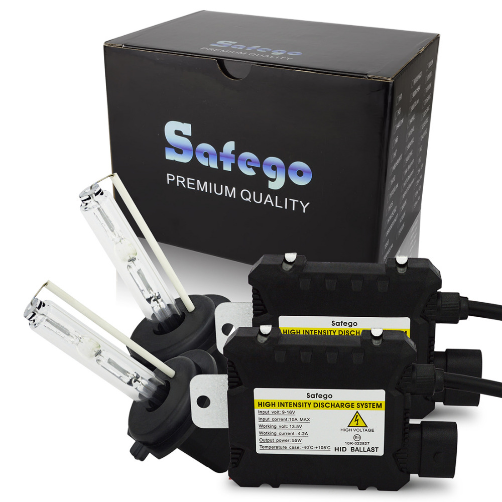 Safego 55W hid xenon Light kit H7 H4 H1 H3 H8 H9 H10 H11 H13 880 881 H27 9004 9005 9006 hid conversion kit 4300K 6000K 8000k