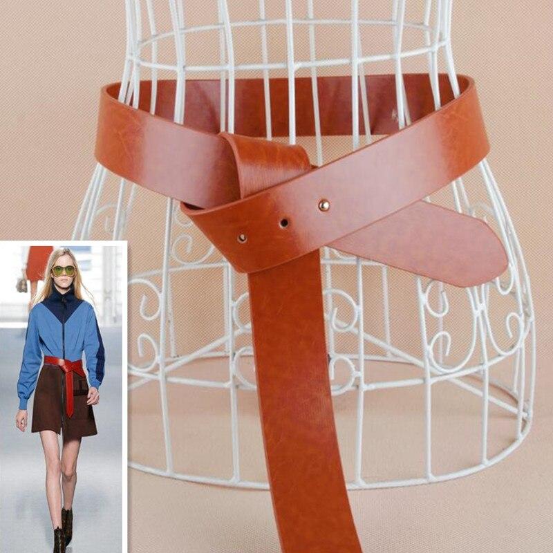 Hot Luxury Cummerbunds Fashion Knotted Women's Belts Autumn And Winter Decorative Waist Belt Leather Cummerbund Wide Belts Women