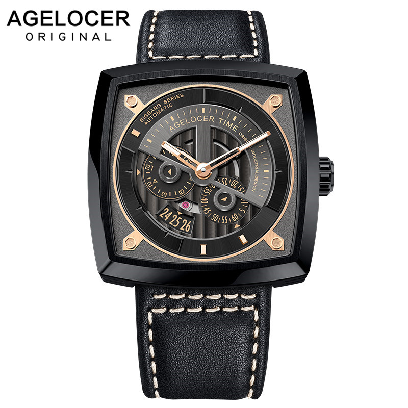 Agelocer Swiss Mens Sport Watches Automatic Skeleton Watch Steel Waterproof Mechanical Watch with Gift Box reloj hombre 5603J3Agelocer Swiss Mens Sport Watches Automatic Skeleton Watch Steel Waterproof Mechanical Watch with Gift Box reloj hombre 5603J3