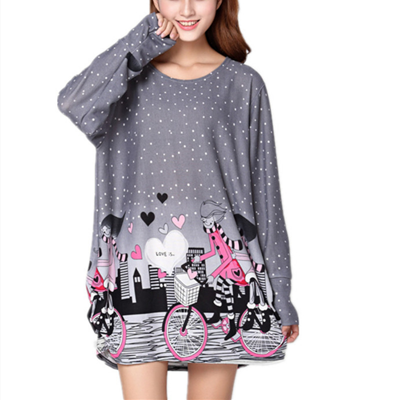 women 2018 autumn summer Hoodies & Sweatshirts casual pullover large long sleeve loose big plus size XL-5XL cotton
