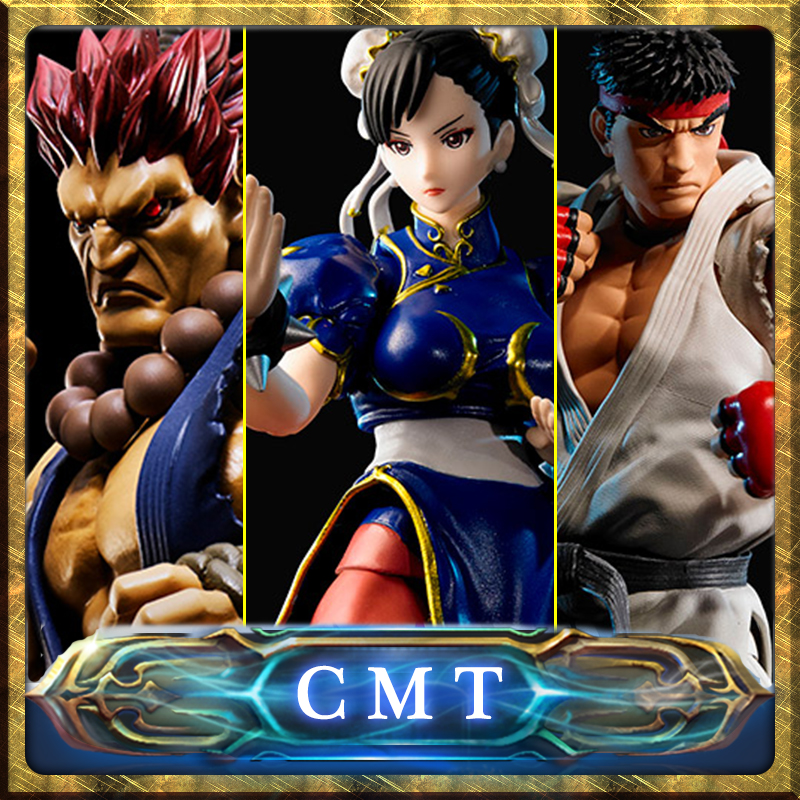 CMT Original Bandai Tamashii Nations S.H.Figuarts SHF Street Fighter Akuma Ryu Chun Li Fighting Body Action Figure Toys Figure cmt original bandai tamashii nations s h figuarts shf dragon ball db kid son gokou action figure anime figure pvc toys figure