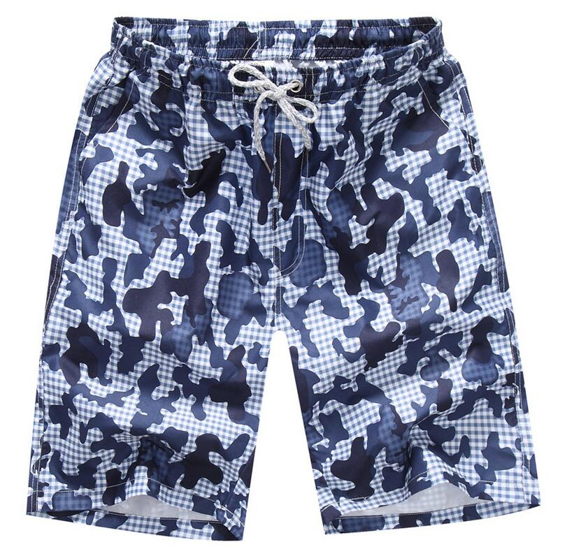 e28f44dbd05e9 Free Shipping 2019 summer new hot men beach shorts quick dry printed  elastic waist 4 colors