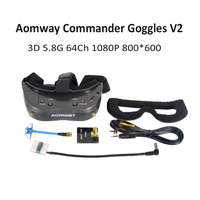 New Aomway Commander Goggles V2 3D 5.8G 64Ch 1080P 800*600 SVGA FPV Video Headset Support HDMI DVR FOV 45 For RC Model