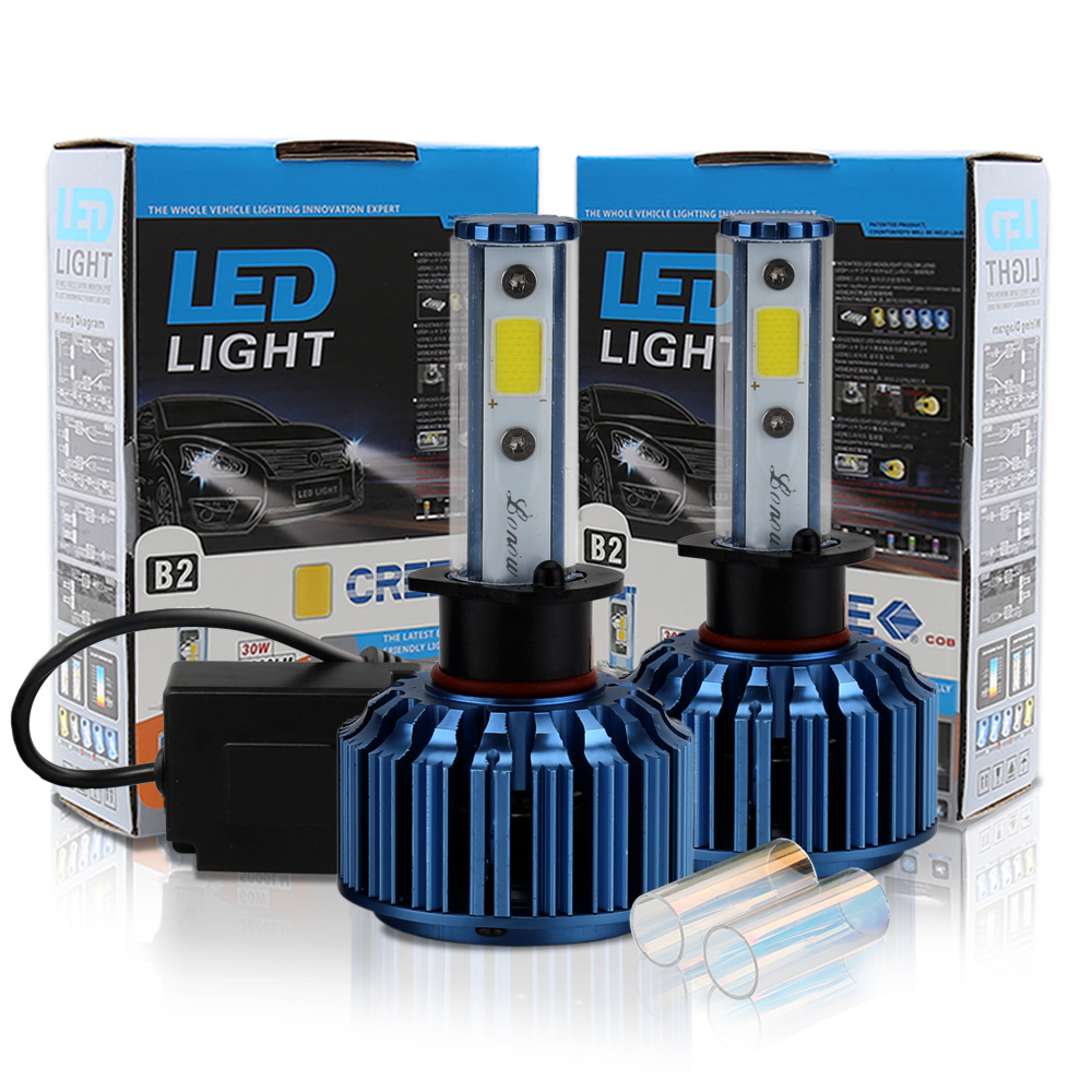 Conquer 60W High beam LED High Power H1 High Low Beam Car Led Headlight Kit  Auto Hi/lo Bulbs Replacement Canbus Headlamp