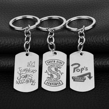 Riverdale Keychain Stainless Steel Dog Tags Pendant Jughead Jones Key Ring Fashion Jewelry Car Keyholder Women Men Jewelry -50(China)