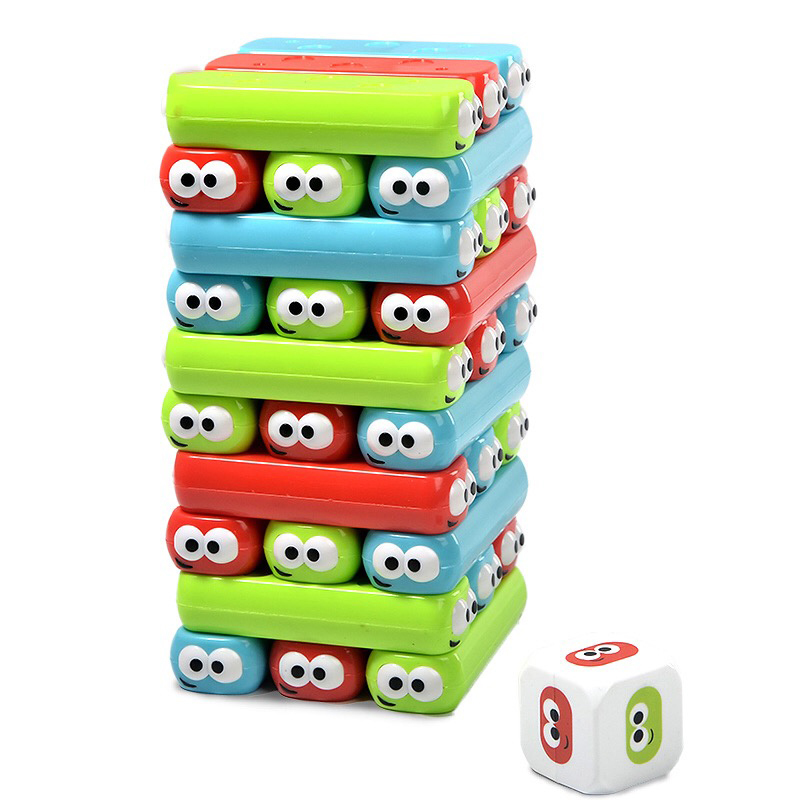 Rainbow Stacker Plastic Educational Toy Funny Brick 3D Puzzles Montessori Jigsaw Birthday Present For Children Oyuncak