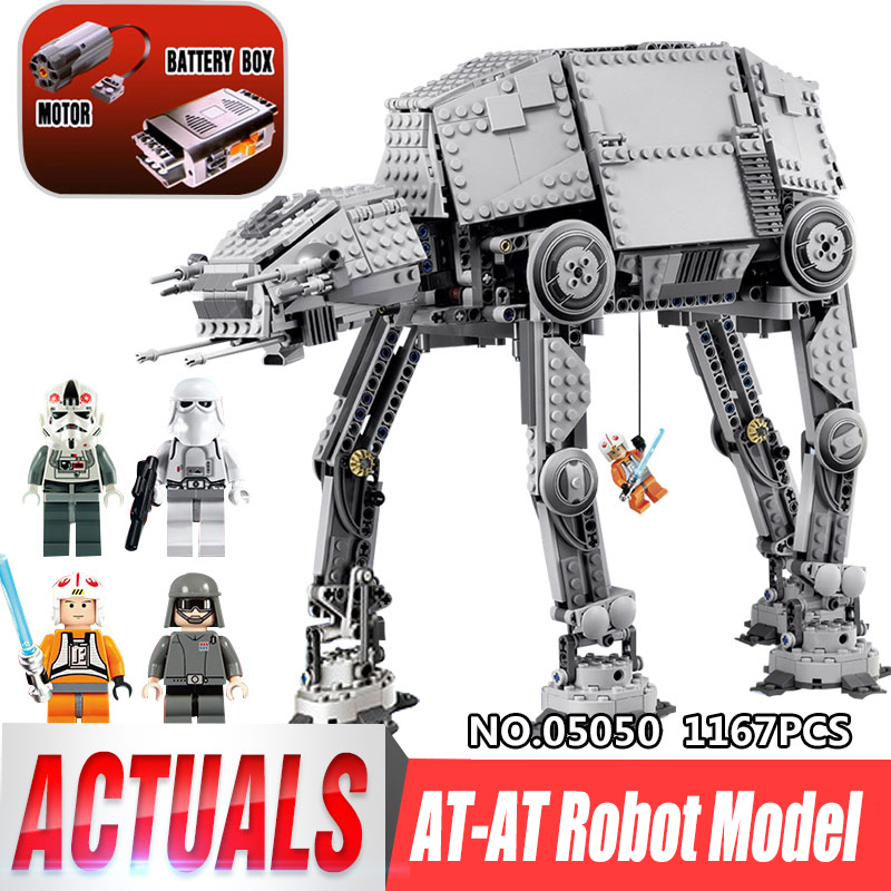LEPIN 05050 Star War Series 1167pcs AT Model AT the robot Model Building blocks Bricks Classic Compatible legoing 75054 Boy Gift rollercoasters the war of the worlds