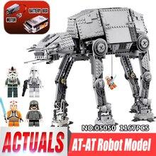 LEPIN 05050 Série Guerra Estrela 1167 pcs AT Modelo no robô Modelo de blocos de Construção Tijolos Clássico Compatível legoing 75054 Menino presente