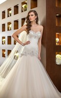 China Bridal Dress Crystal Mermaid Tulle vintage Wedding Dress 2016 Elegant Vestido De Noiva trouwjurk robe de mariage 77
