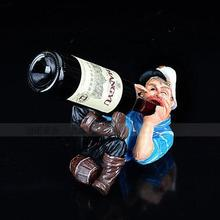 031513 Resin wine rack creative fashion contemporary household Captain blue clothes to drink