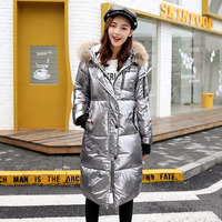 2019 Women's Winter Jacket Hot Selling Cotton Coat Women Winter New Bright Face With Fur Collar Female Outwear