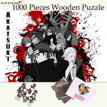 MOMEMO Akatsuki Sect Wooden Puzzle Customized Naruto Anime 1000 Pieces Jigsaw Puzzles Adults Teenagers Kids Toys