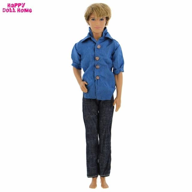 Abito di moda abbigliamento casual quotidiano handmade blu camicie jeans f915eb9637a