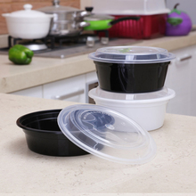 10 шт 720 мл одноразовые пластиковые чаши вынимают контейнеры коробка для хранения продуктов с крышками-круглые