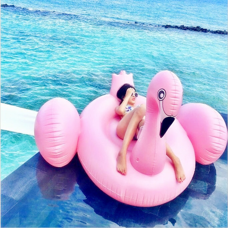 190CM Inflatable Flamingo Giant Pool Float for Adult Pool Toys Water Party Summer Ride-On Swimming Ring Gonflable Piscina Boias190CM Inflatable Flamingo Giant Pool Float for Adult Pool Toys Water Party Summer Ride-On Swimming Ring Gonflable Piscina Boias