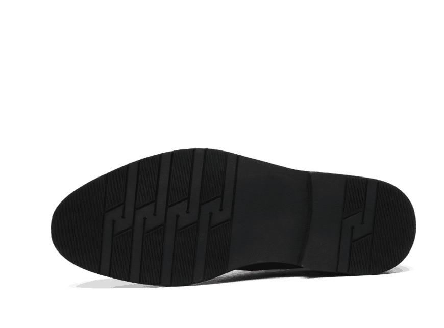 Модные мужские ботинки из натуральной кожи на толстой подошве ботильоны без застежки с круглым носком высококачественные мужские рабочие ... - 4